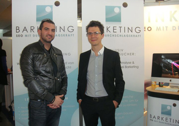 Barketing IMS GmbH and Stefan Chorbanov, Stenik at Internet World 2011 in Munich
