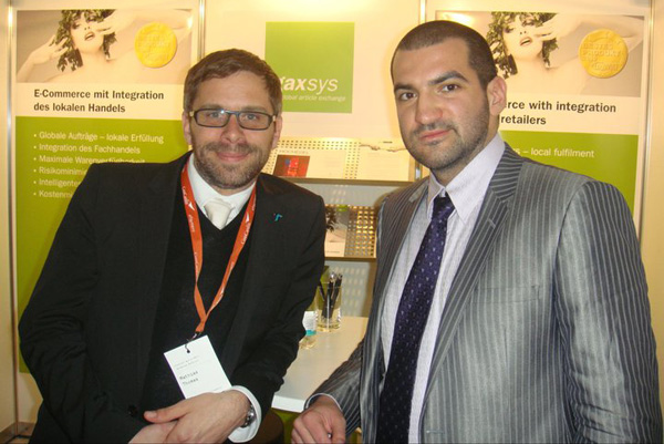 gaxsys Karlsruhe and Stefan Chorbanov, Stenik at Internet World 2011 in Munich