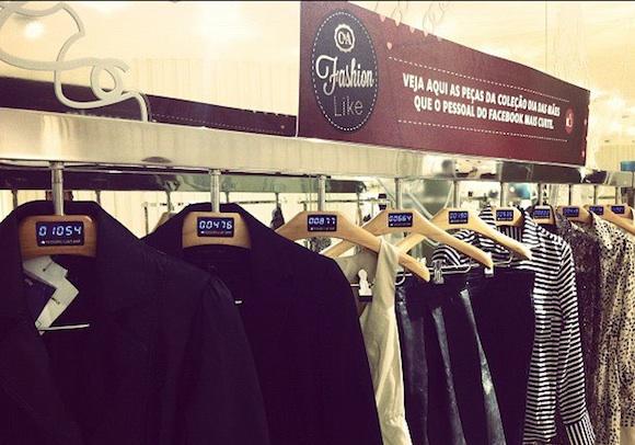 C&A слагат закачалки в магазините си с броя на Facebook likes