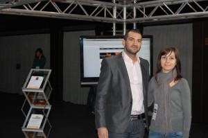Стефан Чорбанов на щанда на Host.bg на Webit 2010