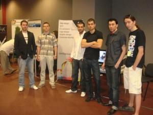 Стефан Чорбанов с екипа на Stenik на WebXpo 2009