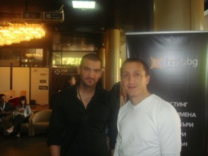 Стефан Чорнанов с Туньо Зафер на WebXpo 2010