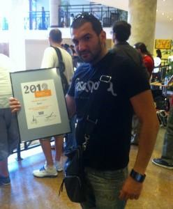 Стефан Чорбанов с награда за най-добър блог на Български награди за уеб 2012